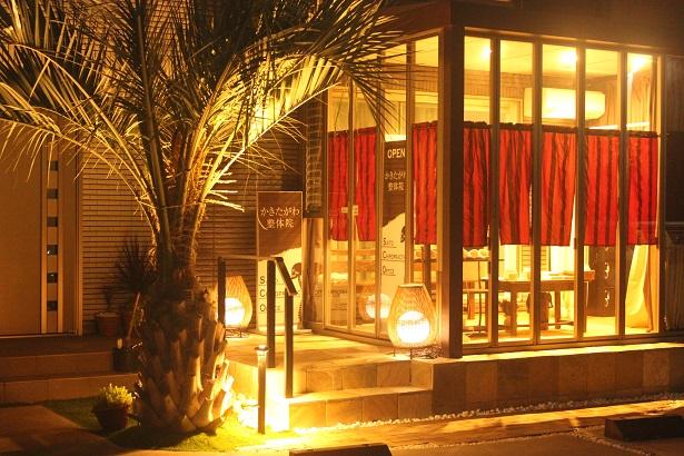 三島市かきたがわ整骨院の夜の景色