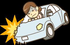 交通事故の女性